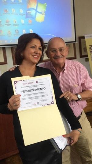 Teresa Velázquez y Benito Taibo