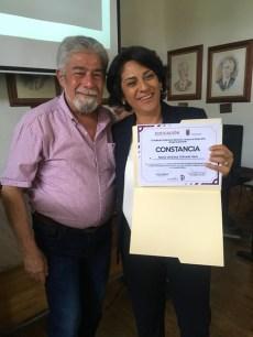 Teodoro Villegas y Verónica Orihuela